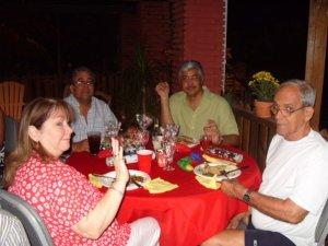 Leslie at Tobago Xmas with Gerald, Douglas and Leonard