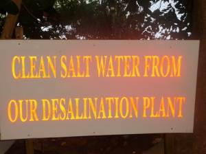 Sign on Grand Anse Beach